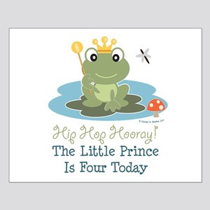 Frog Prince 4th Birthday Small Poster