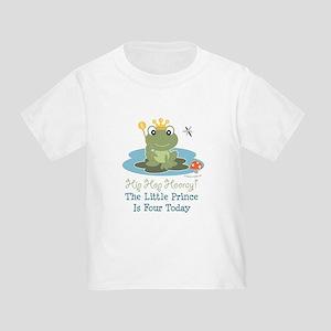 Frog Prince 4th Birthday Toddler T-Shirt