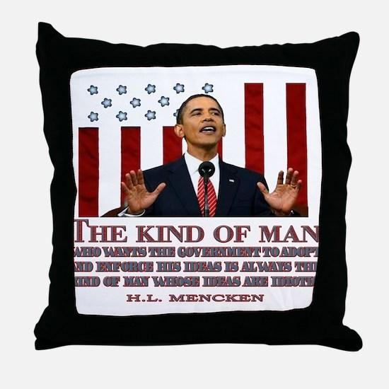Obama & Idiotic Ideas Throw Pillow