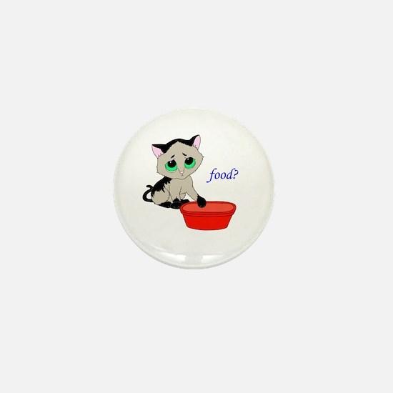 Food? (cat) Mini Button