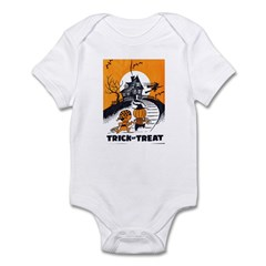 Vintage Trick or Treat Image Infant Bodysuit