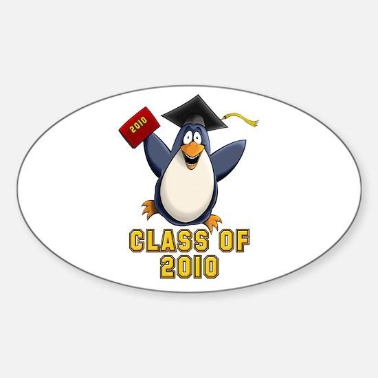 Penguin Graduate Sticker (Oval)