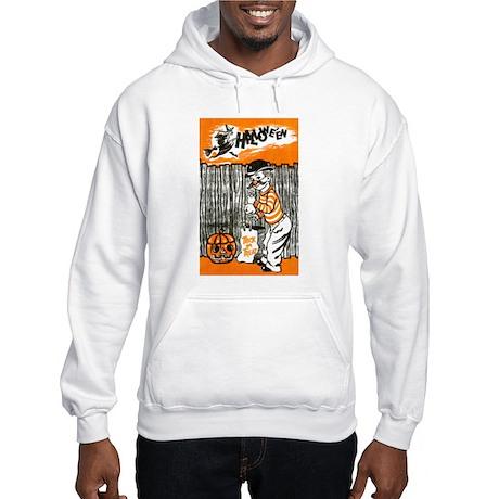 Vintage Trick or Treat Image Hooded Sweatshirt