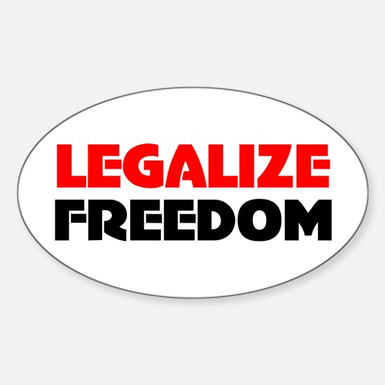 Legalize Freedom Oval Decal