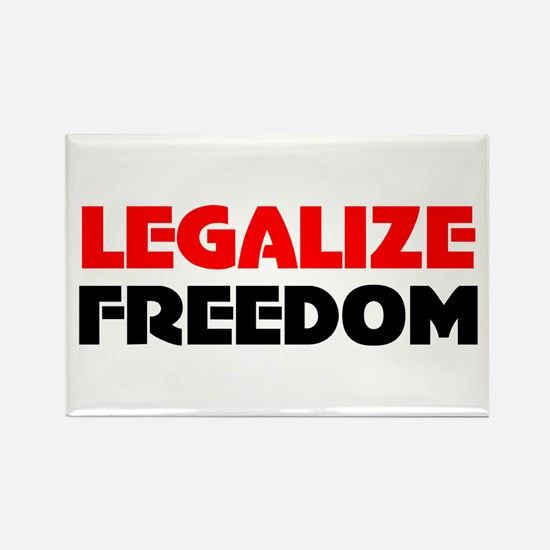 Legalize Freedom Rectangle Magnet