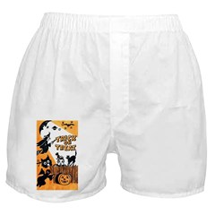 Vintage Trick or Treat Image Boxer Shorts
