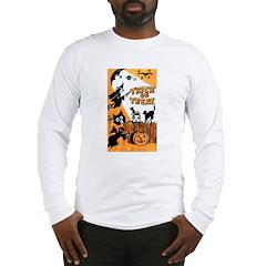Vintage Trick or Treat Image Long Sleeve T-Shirt