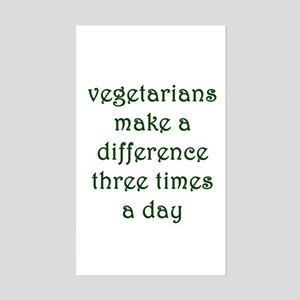 Vegetarianism Sticker (Rectangle)