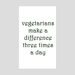 Vegetarianism Sticker (Rectangle)