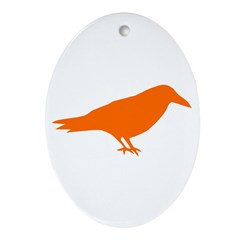 The Raven Ornament (Oval)