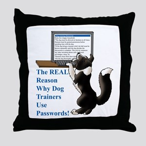 Password Protection Throw Pillow