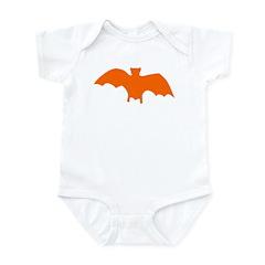 Orange Batty Infant Bodysuit