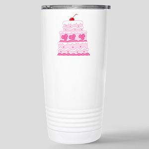 Pink Cake Stainless Steel Travel Mug