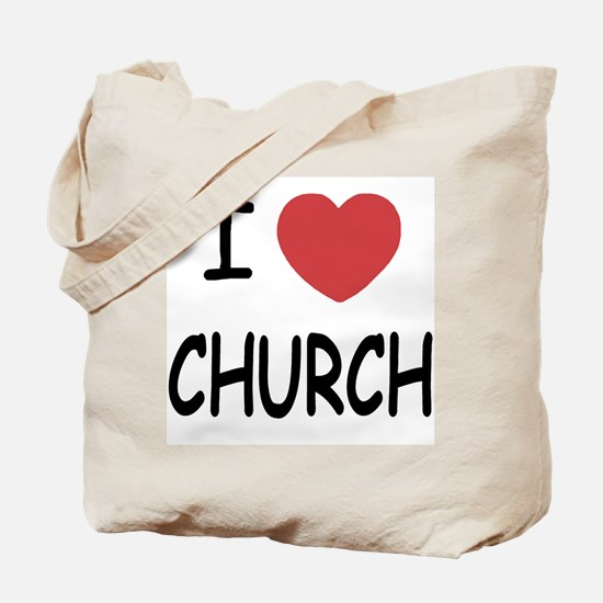 I heart church Tote Bag
