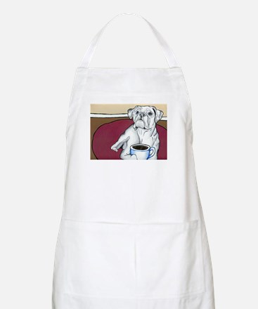 Coffee Boxer (white) BBQ Apron