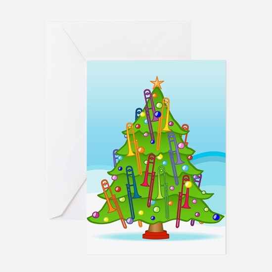 Trombone Christmas Greeting Card