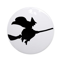 Flying Witch Ornament (Round)
