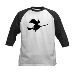 Flying Witch Kids Baseball Jersey