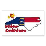 ILY North Carolina Sticker (Rectangle)