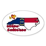 ILY North Carolina Sticker (Oval 10 pk)