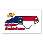 ILY North Carolina Sticker (Rectangle 50 pk)