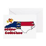 ILY North Carolina Greeting Cards (Pk of 10)