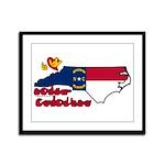 ILY North Carolina Framed Panel Print