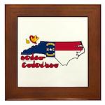 ILY North Carolina Framed Tile