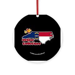ILY North Carolina Ornament (Round)