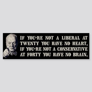 Churchill on Liberals Sticker (Bumper)
