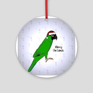 Santa Nanday Conure Christmas Ornament