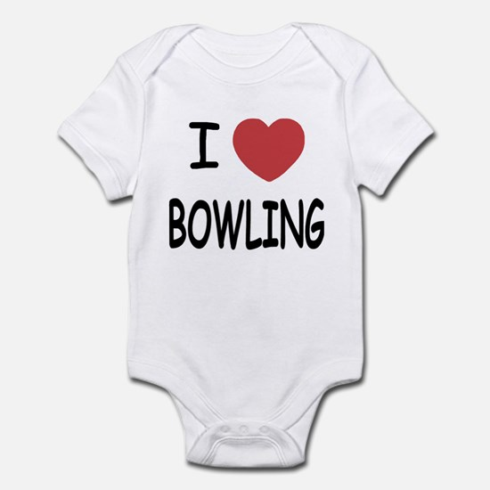 I heart bowling Infant Bodysuit