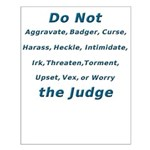 Don't Irk The Judge Small Poster