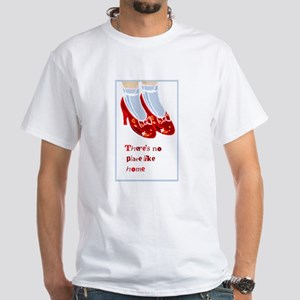 Red Ruby Slippers White T-Shirt
