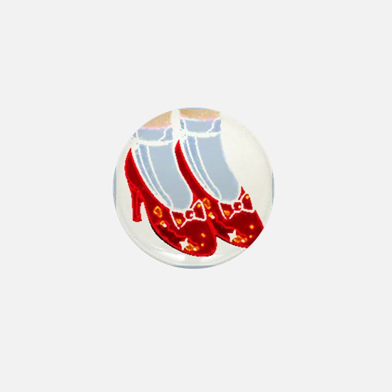 Red Ruby Slippers Mini Button