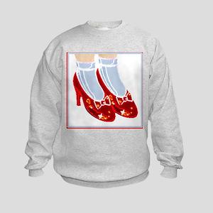 Red Ruby Slippers Kids Sweatshirt