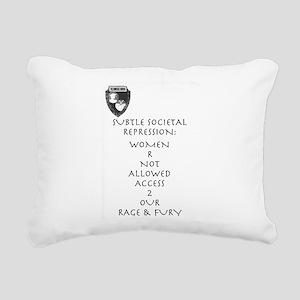 Women R Not Allowed Rectangular Canvas Pillow