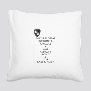 Women R Not Allowed Square Canvas Pillow