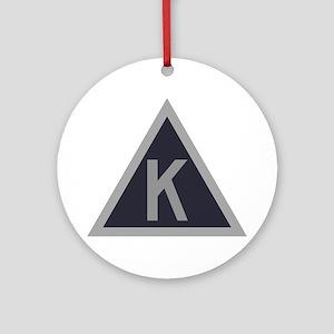 Triangle K Ornament (Round)