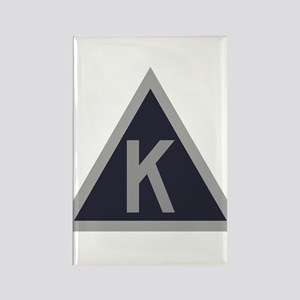 Triangle K Rectangle Magnet