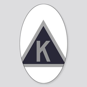Triangle K Sticker (Oval)