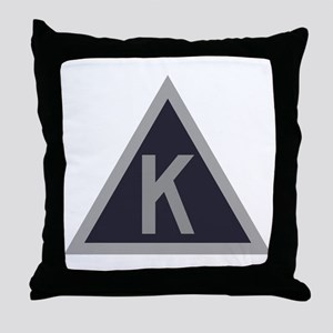 Triangle K Throw Pillow