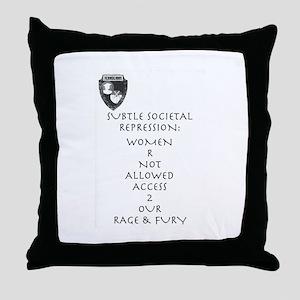 Women R Not Allowed Throw Pillow