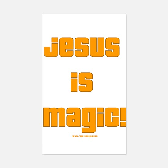 Jesus is Magic! Rectangle Decal