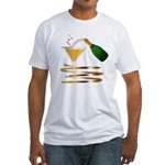 Champagne Party Celebration Fitted T-Shirt
