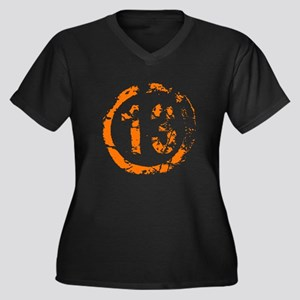 Lucky 13 Women's Plus Size V-Neck Dark T-Shirt
