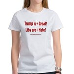 Trump +Great, Dems ÷Hate Women's Classic T-Shirt