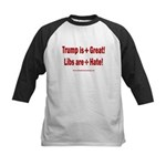 Trump +Great, Dems ÷Hate Kids Baseball Tee