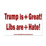 Trump +Great, Dems ÷Hate Mini Poster Print