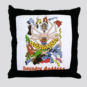 The Laundry Goddess Throw Pillow